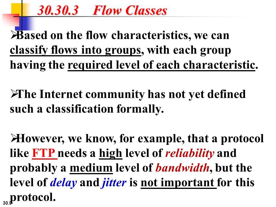 30.30.3 Flow Classes
