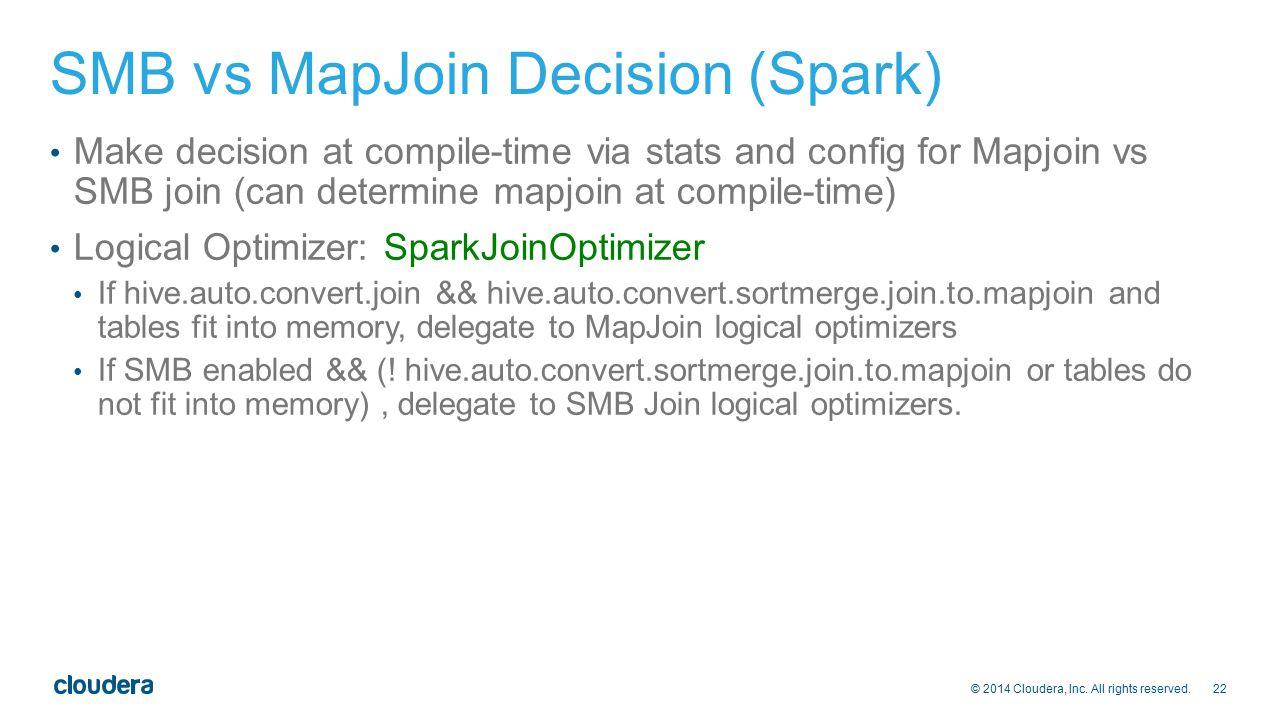 SMB vs MapJoin Decision (Spark)