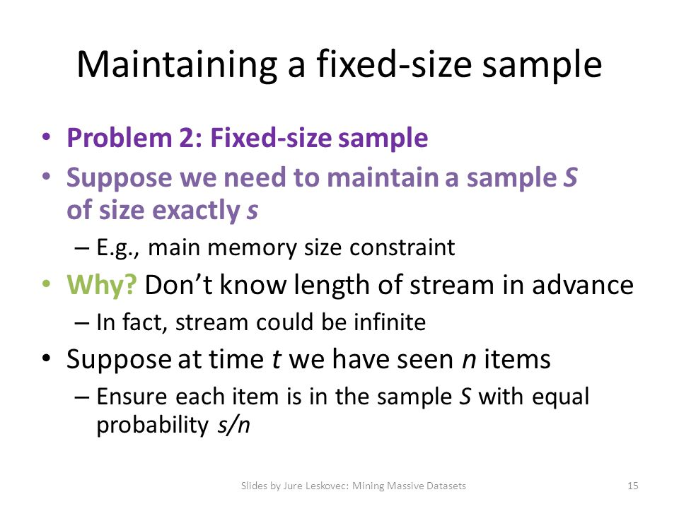 Maintaining a fixed-size sample