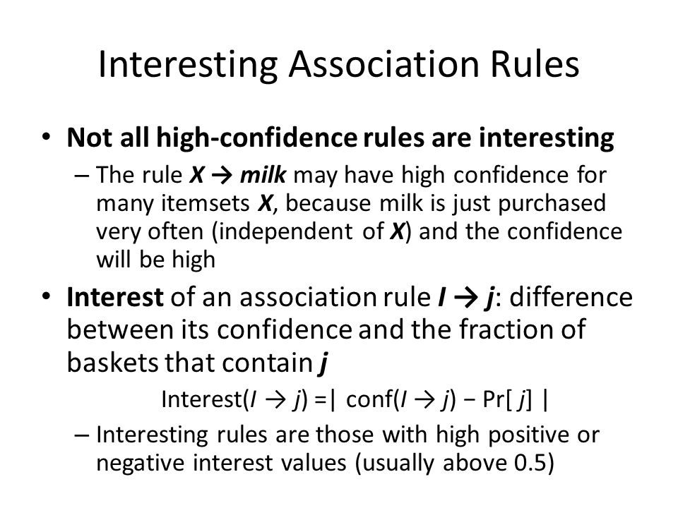 Interesting Association Rules