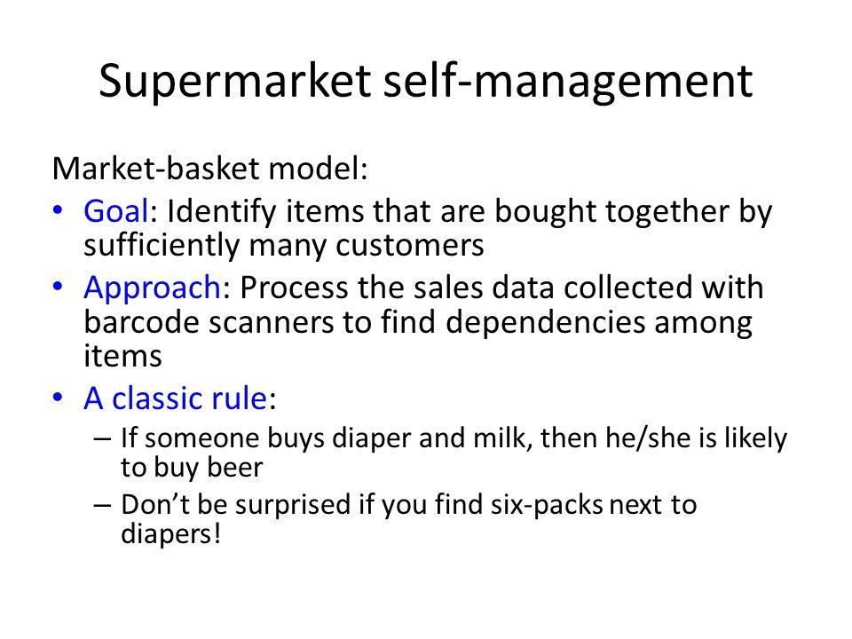 Supermarket self-management