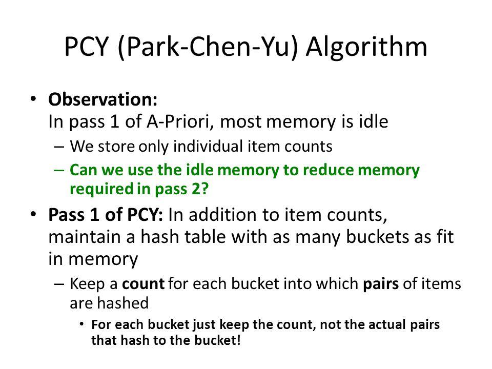 PCY (Park-Chen-Yu) Algorithm