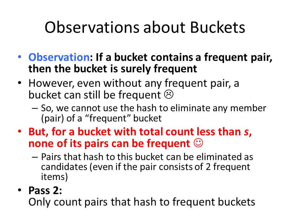 Observations about Buckets