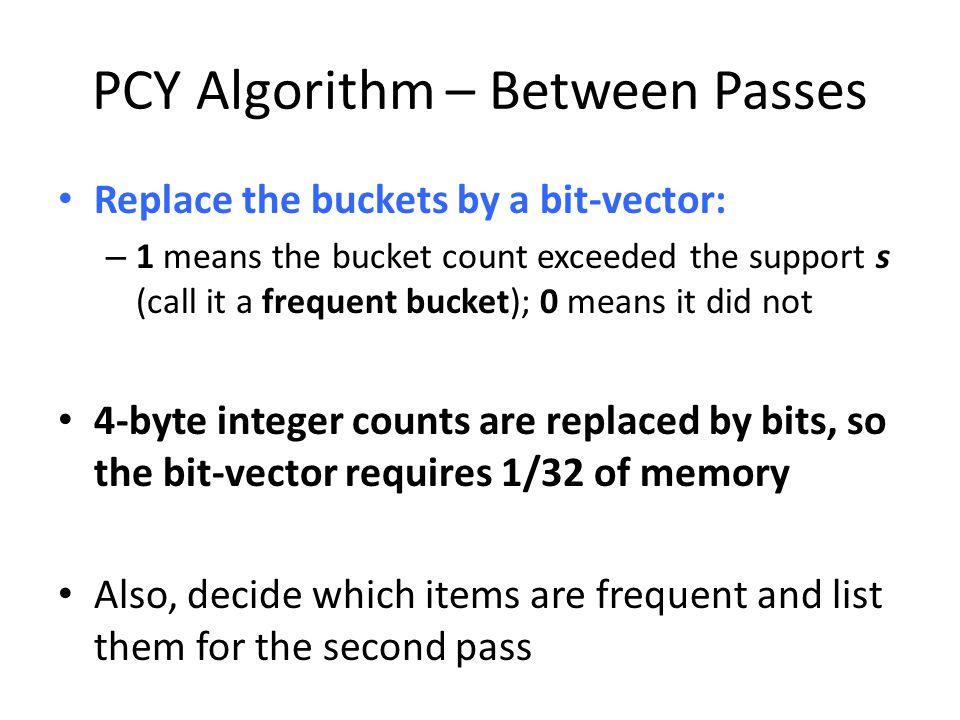 PCY Algorithm – Between Passes