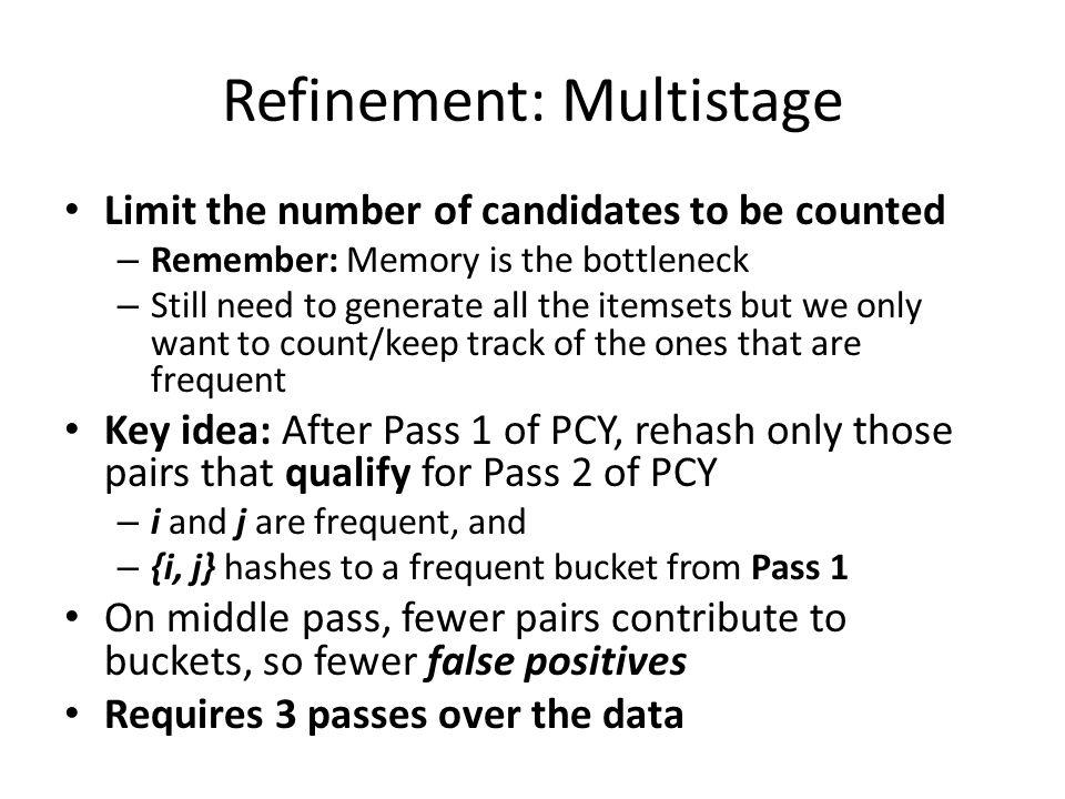 Refinement: Multistage