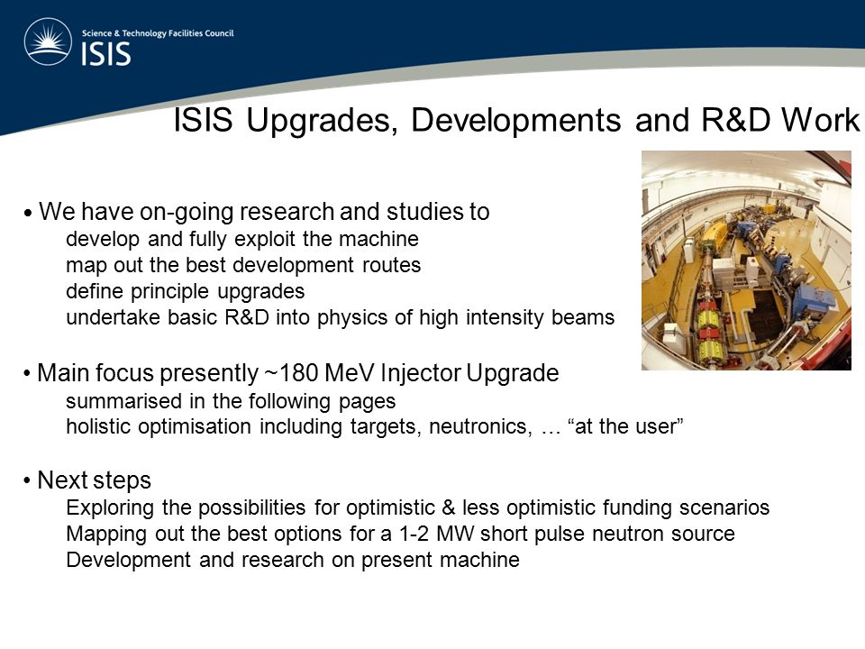 ISIS Upgrades, Developments and R&D Work