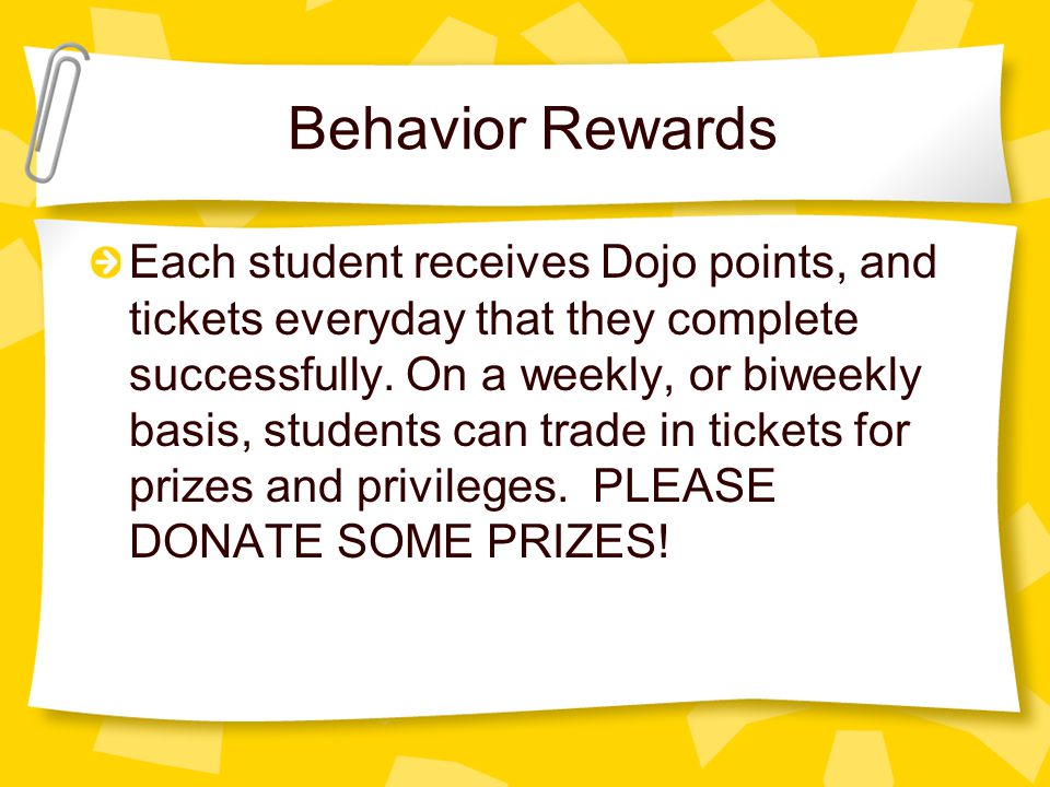 Behavior Rewards