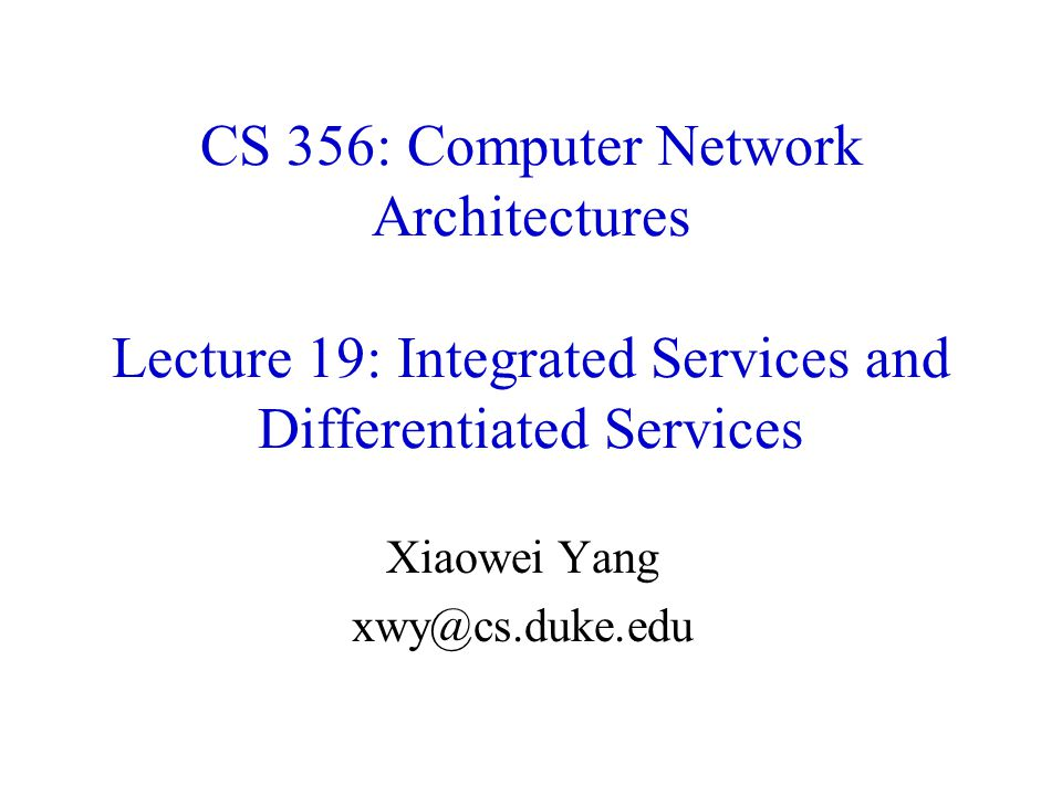 Xiaowei Yang xwy@cs.duke.edu