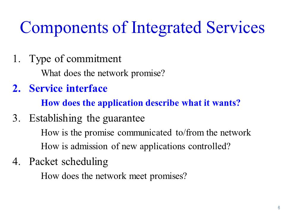 Components of Integrated Services