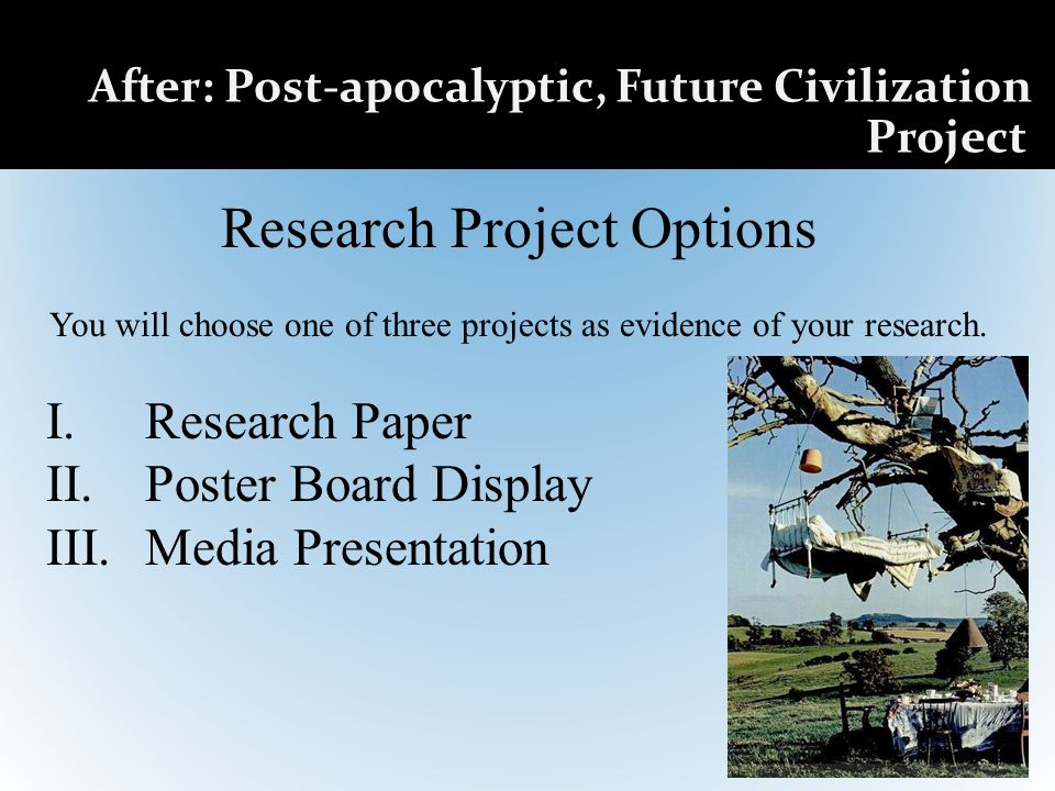 Research Project Options