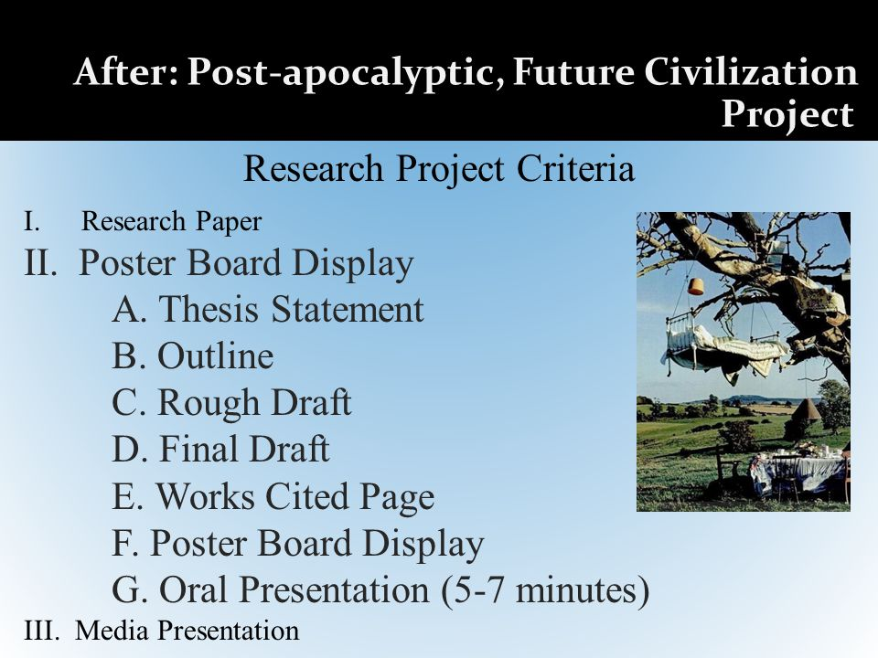 Research Project Criteria