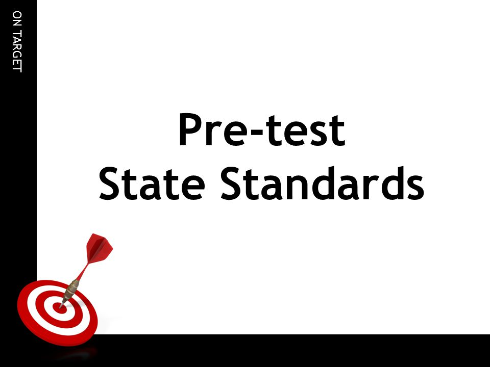 Pre-test State Standards