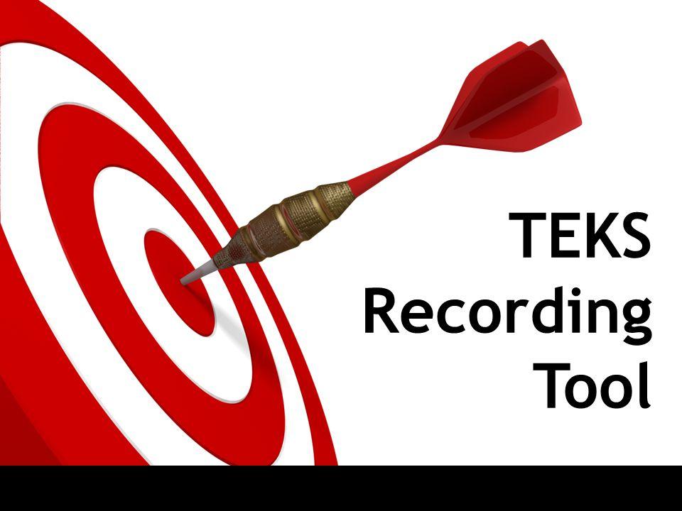 TEKS Recording Tool