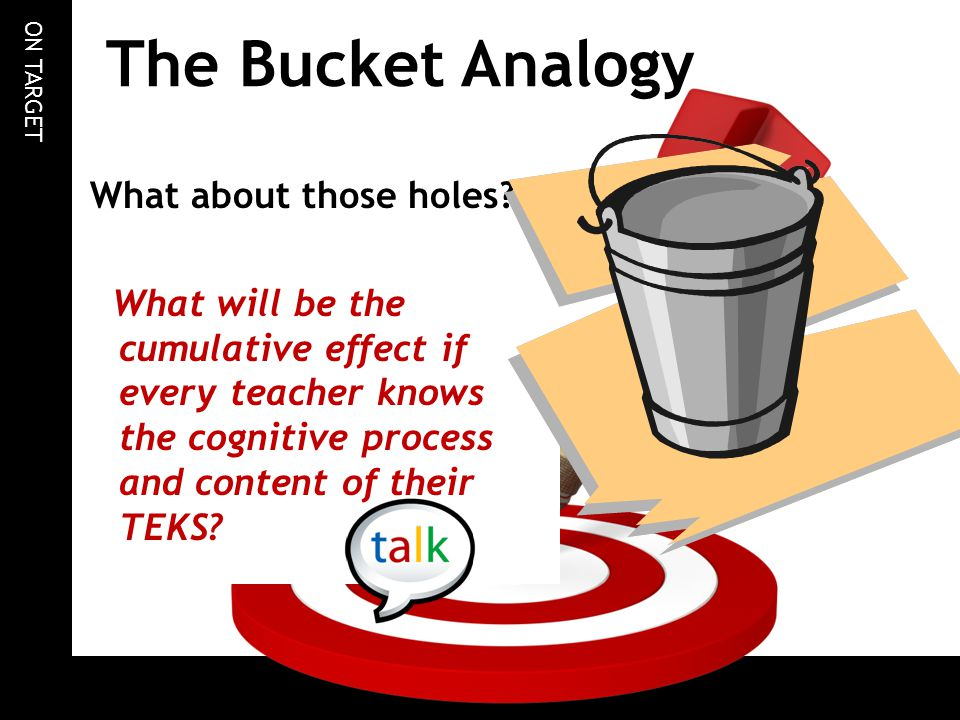 The Bucket Analogy