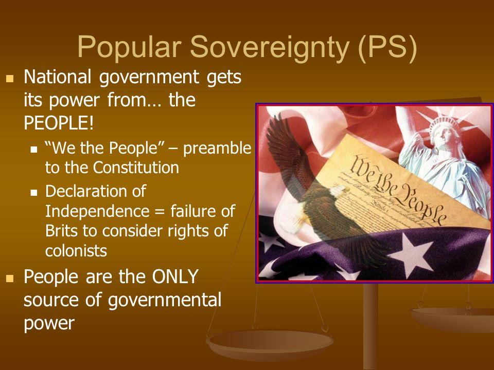 Popular Sovereignty (PS)