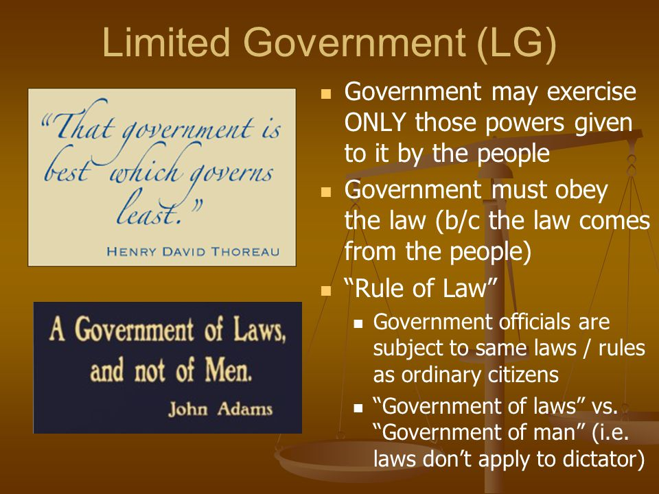 Limited Government (LG)