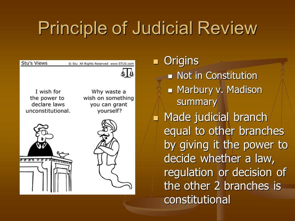 Principle of Judicial Review
