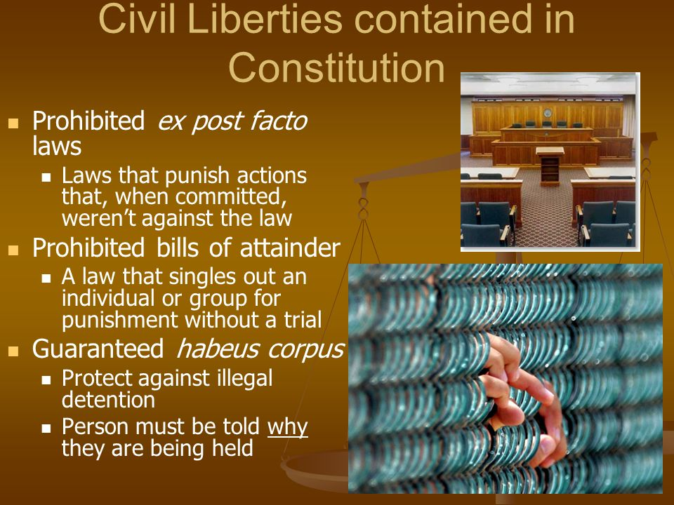 Civil Liberties contained in Constitution