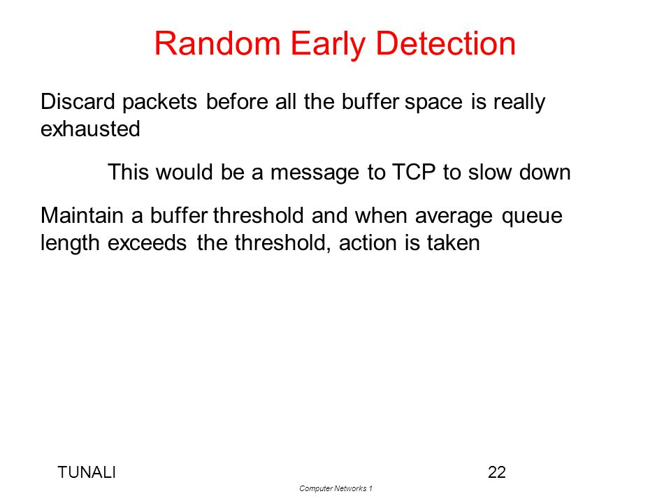 Random Early Detection