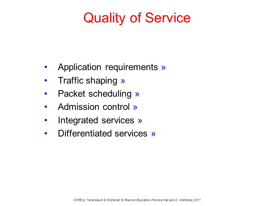 Quality of Service Application requirements » Traffic shaping »