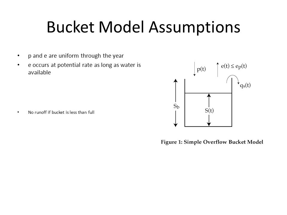 Bucket Model Assumptions