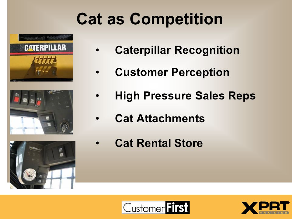 Cat as Competition Caterpillar Recognition Customer Perception