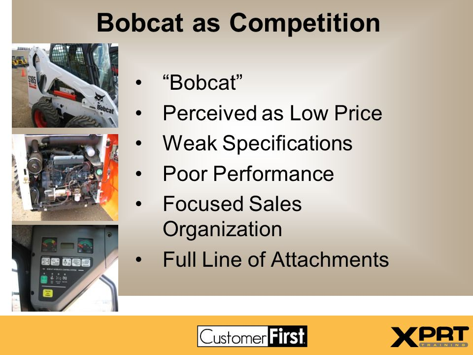 Bobcat as Competition Bobcat Perceived as Low Price