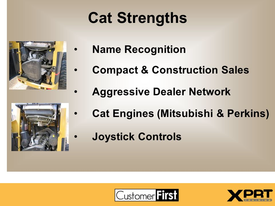 Cat Strengths Name Recognition Compact & Construction Sales