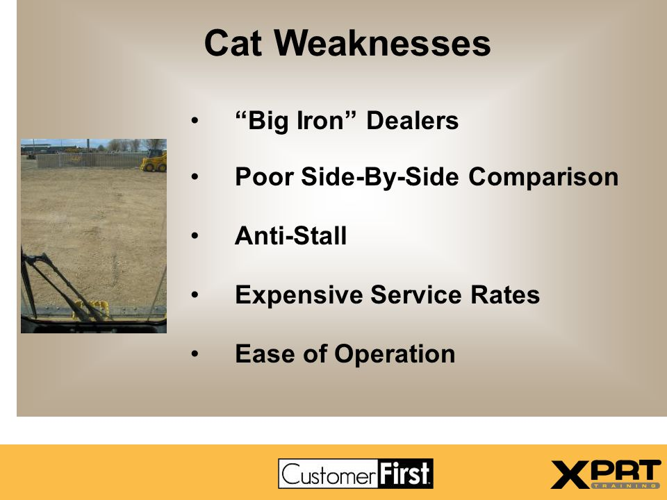 Cat Weaknesses Big Iron Dealers Poor Side-By-Side Comparison