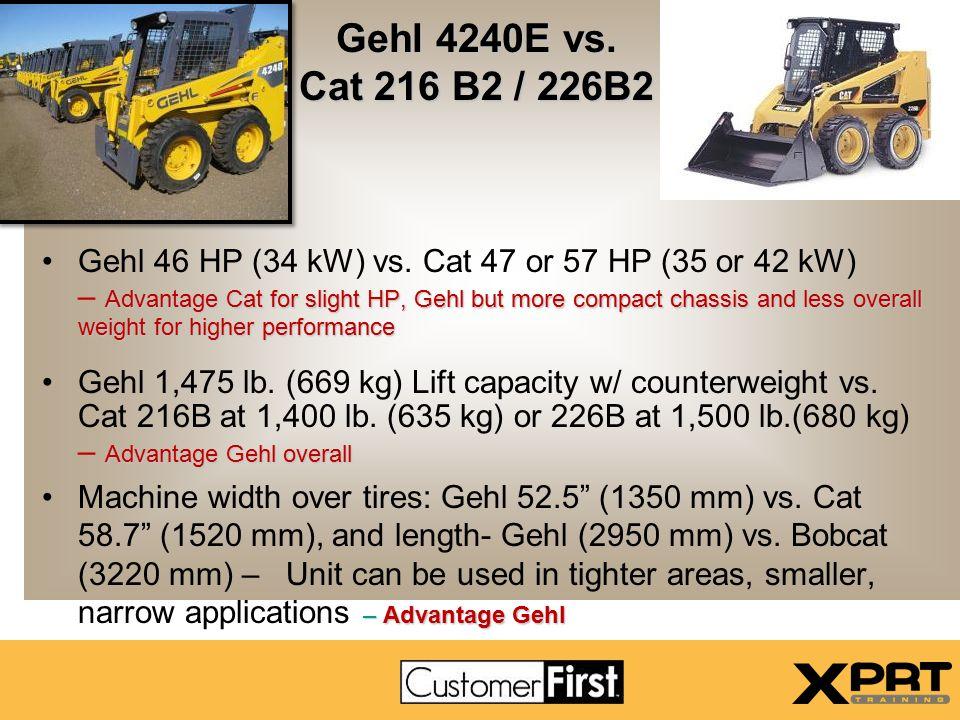 Gehl 4240E vs. Cat 216 B2 / 226B2