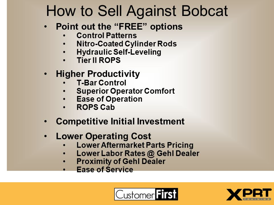 How to Sell Against Bobcat