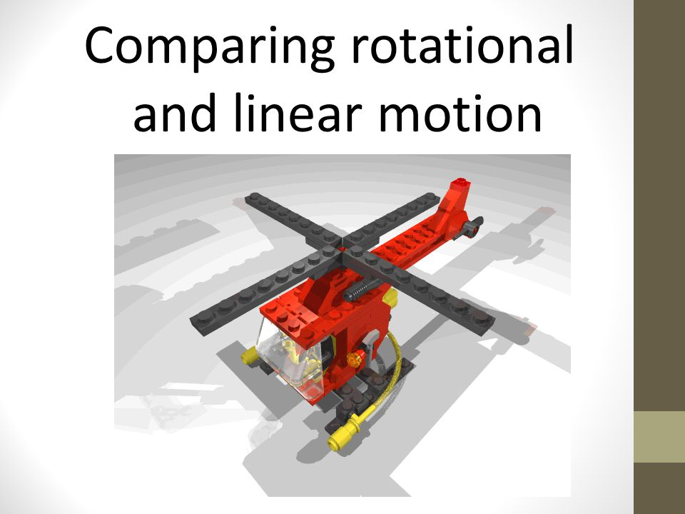 Comparing rotational and linear motion