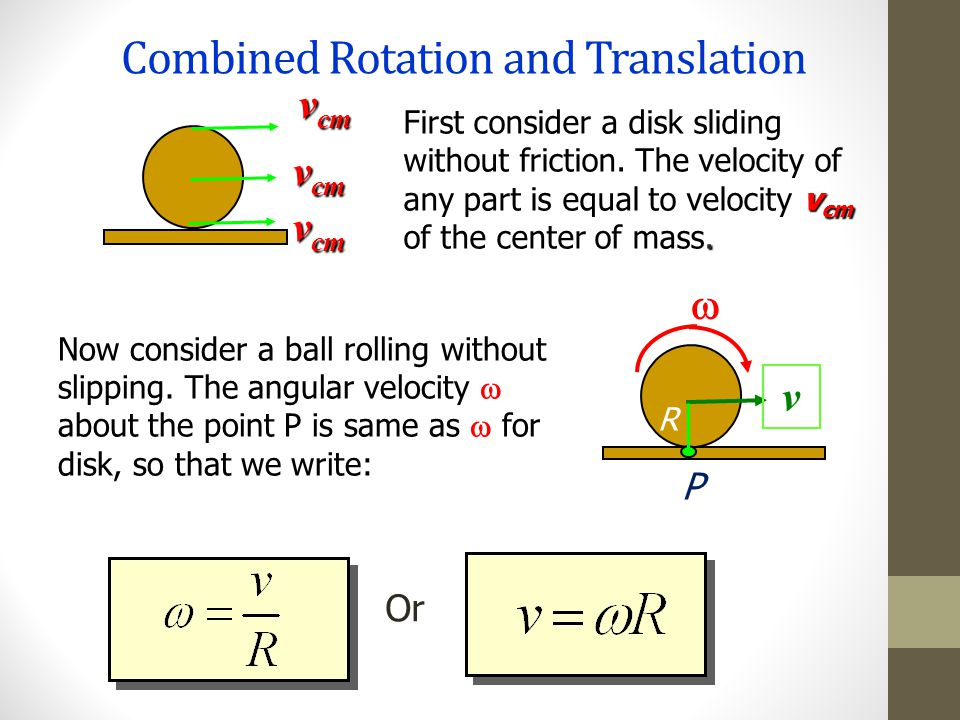 Combined Rotation and Translation