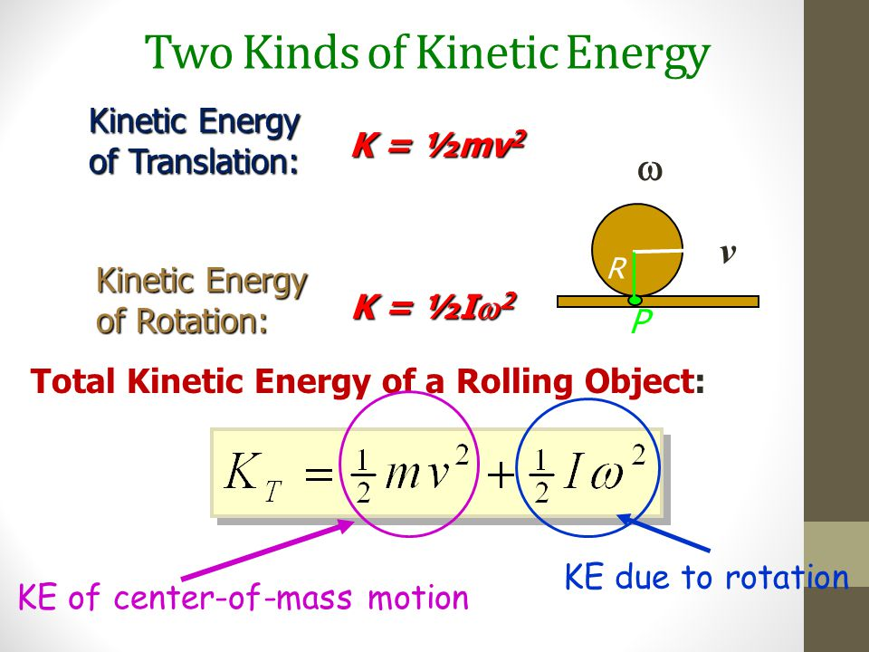 Two Kinds of Kinetic Energy