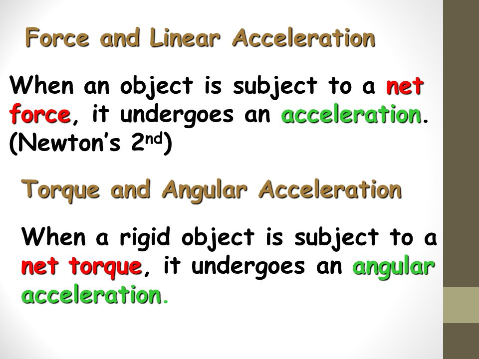 Force and Linear Acceleration