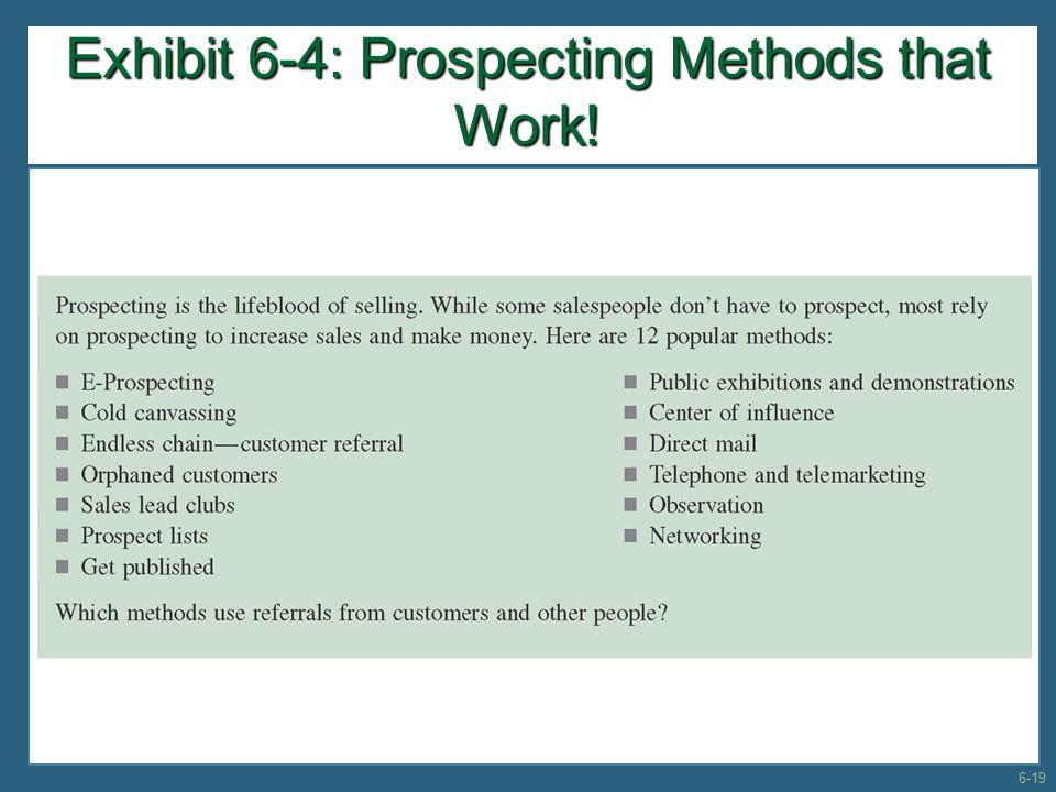 Exhibit 6-4: Prospecting Methods that Work!