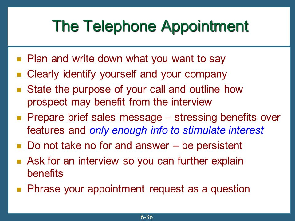 The Telephone Appointment