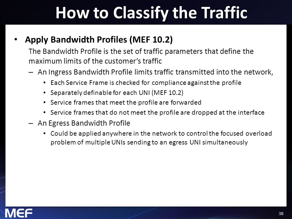 How to Classify the Traffic
