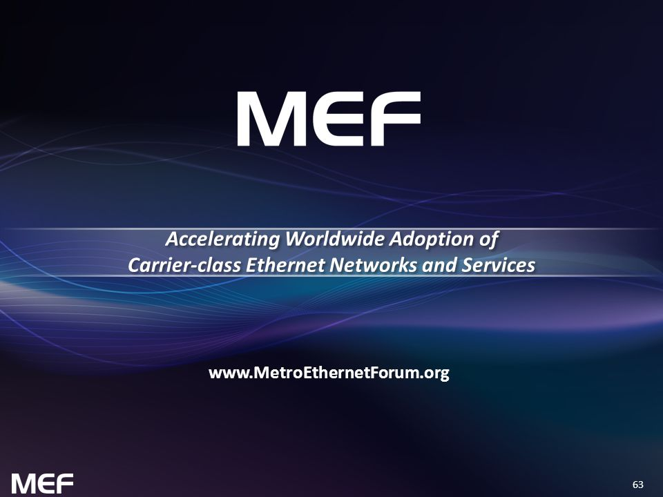 Accelerating Worldwide Adoption of Carrier-class Ethernet Networks and Services