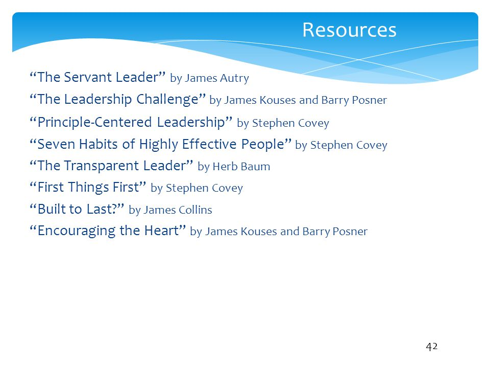 Resources The Servant Leader by James Autry