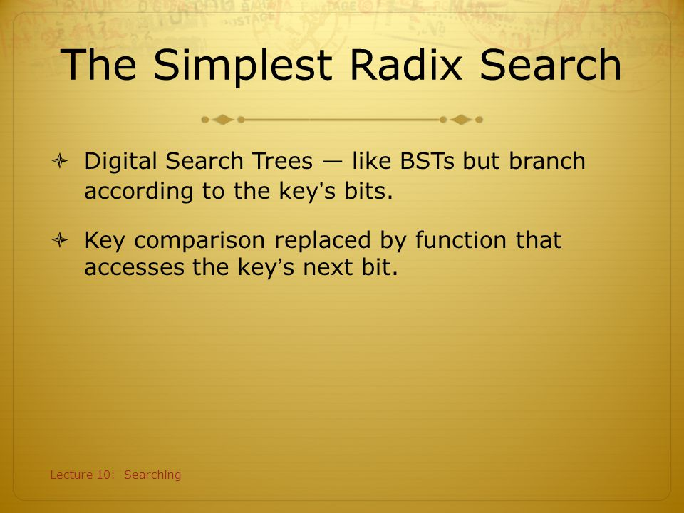 The Simplest Radix Search
