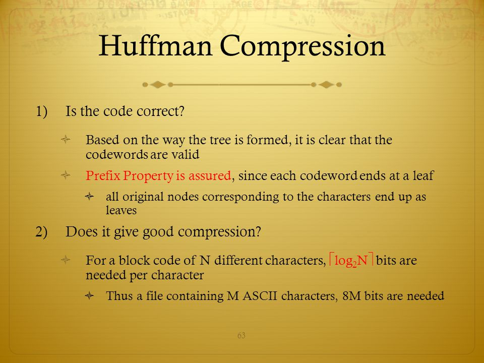 Huffman Compression Is the code correct