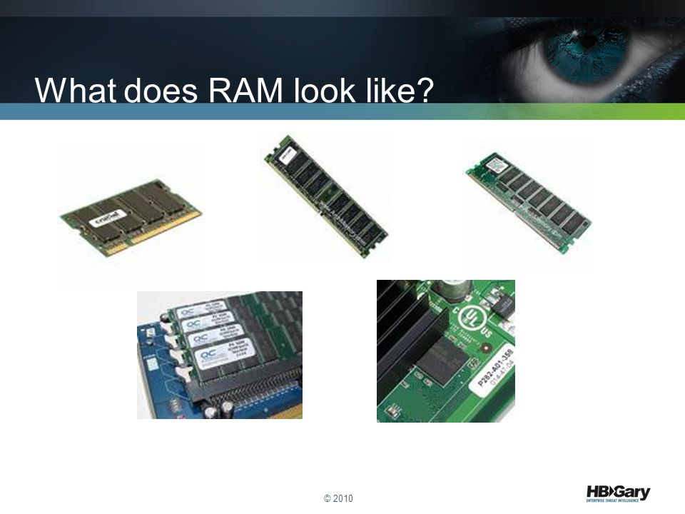 What does RAM look like © 2010