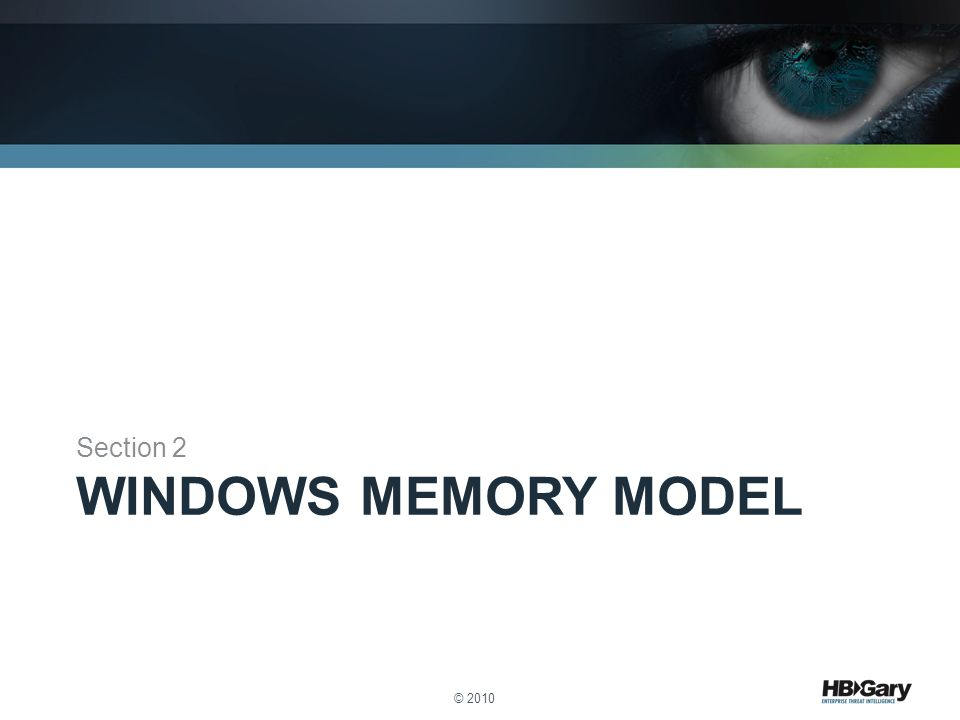 Section 2 Windows Memory Model © 2010