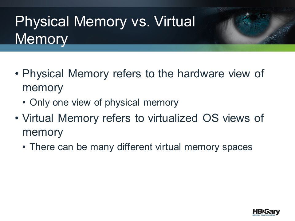 Physical Memory vs. Virtual Memory