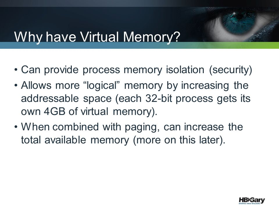 Why have Virtual Memory
