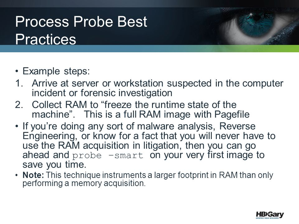 Process Probe Best Practices