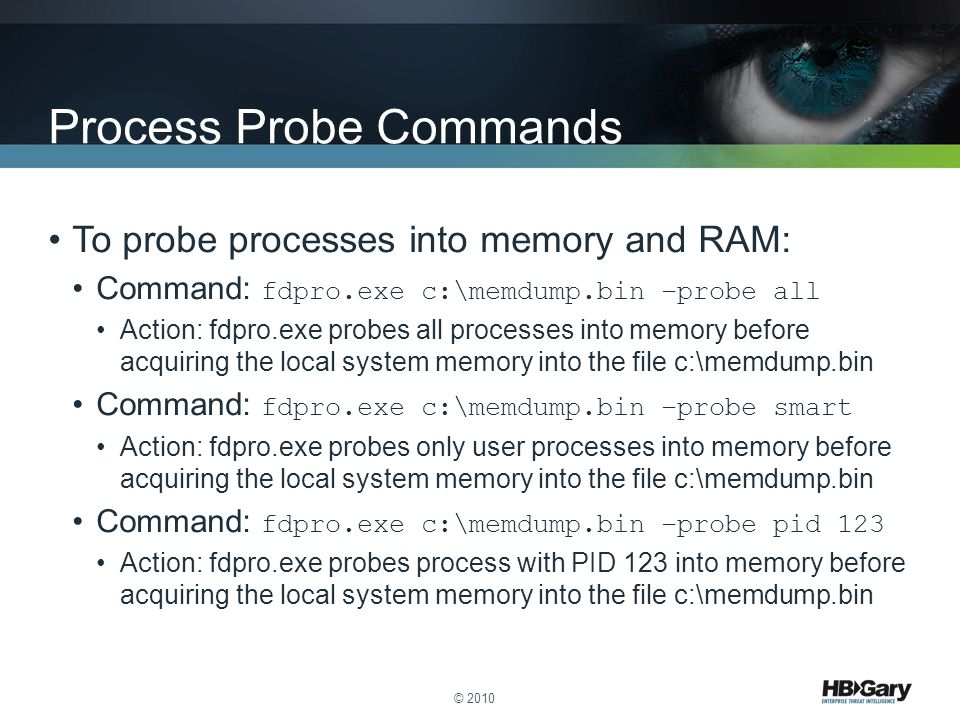 Process Probe Commands