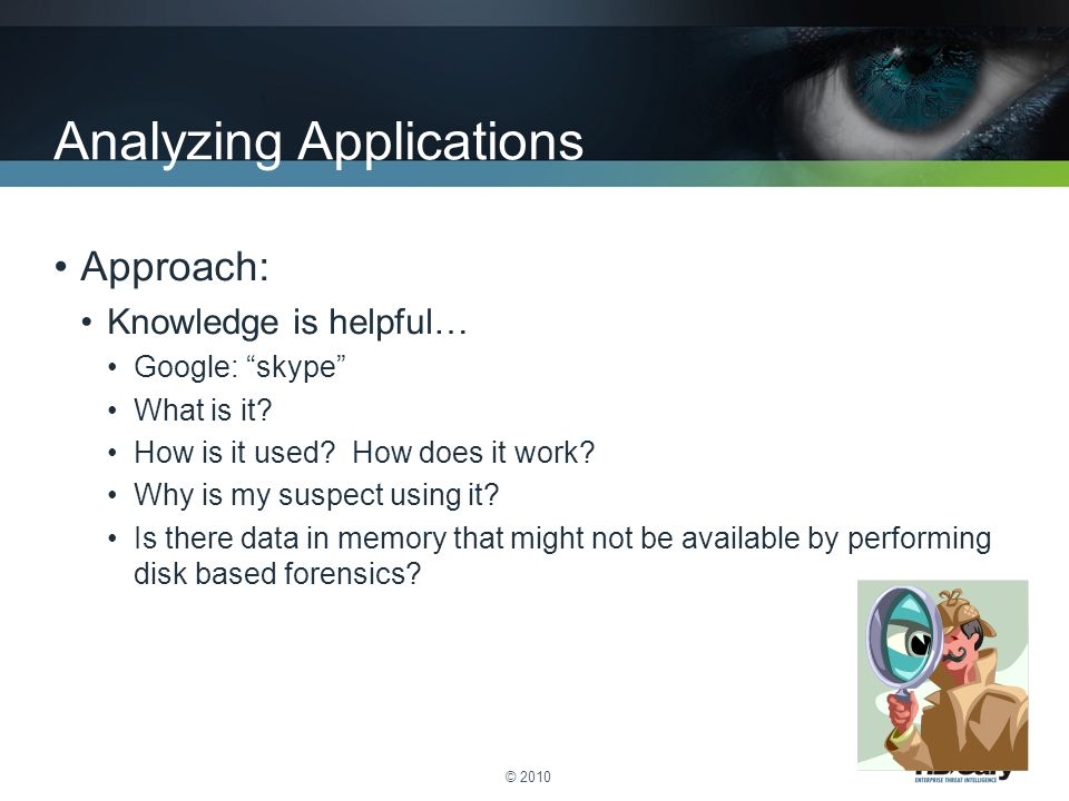 Analyzing Applications