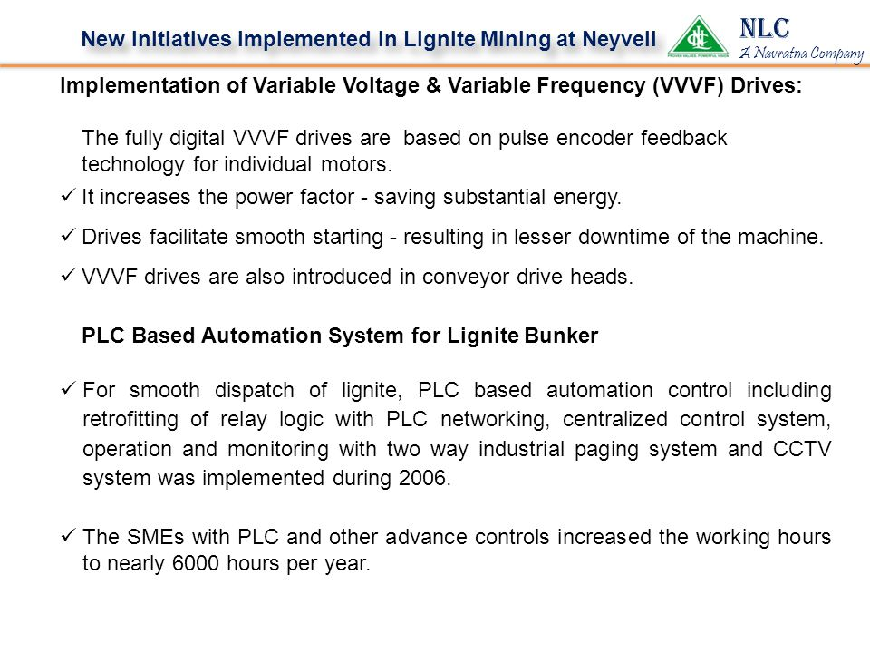 NLC New Initiatives implemented In Lignite Mining at Neyveli